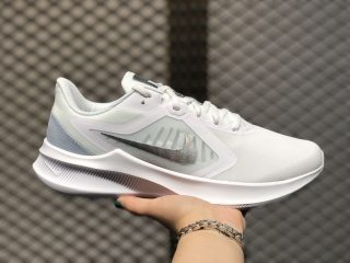 Nike Downshifter 10 White/Metallic Silver CI9981-100 2020 Latest Running Shoes
