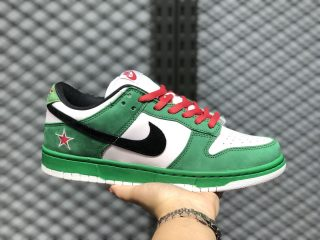 "Nike SB Dunk Low Pro ""Heineken"" 304292-302 Classic Green/Black/White/Red"