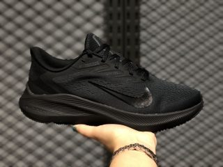 Nike Zoom Winflo 7 Triple Black Latest Running Shoes CJ0291-001 Hot Sale