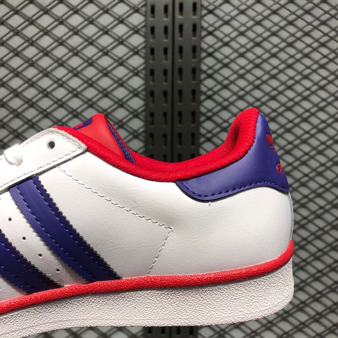 adidas white and purple shoes