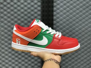 7-Eleven x Nike SB Dunk Low Red Orange Green White Hot Sale CZ5130-600