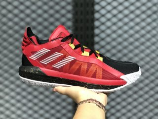 Adidas Dame 6 GCA Scarlet/Gold Metallic/Black Trainers On Sale EH1994
