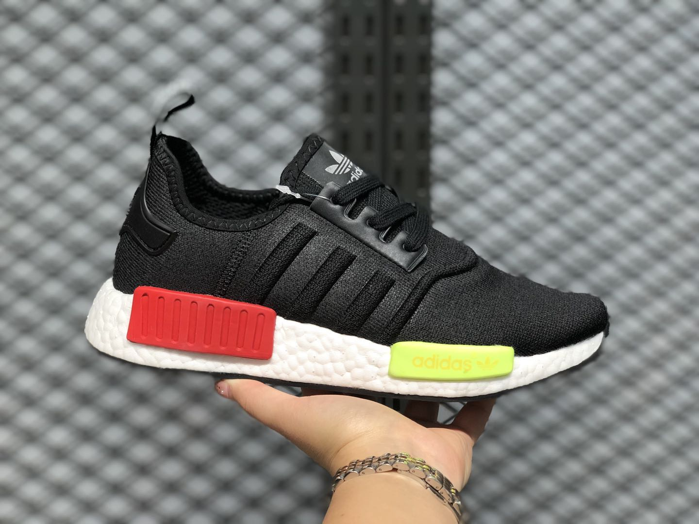 The Latest Adidas NMD R1 Running Shoes Core Black/Energy Pink ...