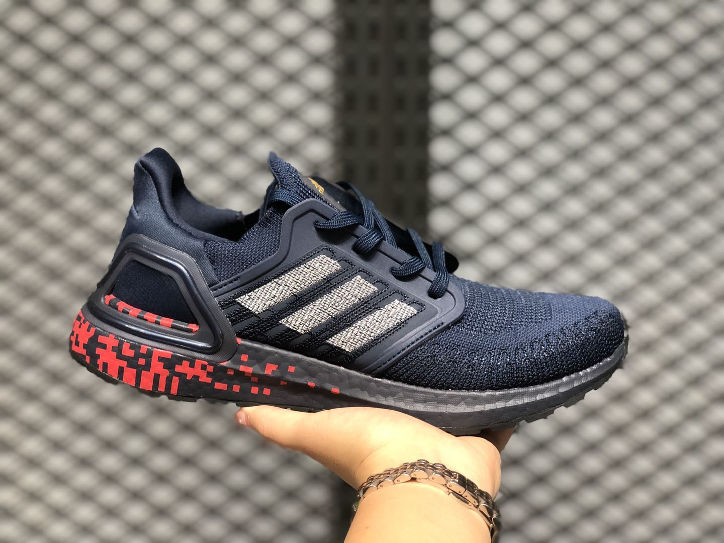 Adidas Ultra Boost 20 Collegiate Navy/Signal Coral/Gold Metallic FY3451