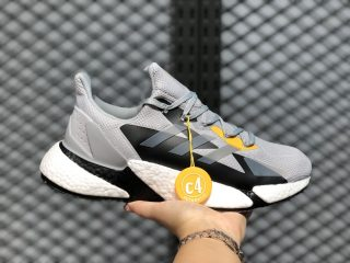 Adidas X9000L4 Light Grey/Black-Yellow Running Shoes On Sale FW8414