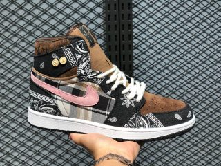 Air Jordan 1 High Black/Parachute Beige-Petra Brown CT5053-001