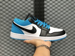 Air Jordan 1 Low Black/Black-Laser Blue-White On Sale CK3022-004
