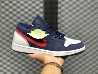 Air Jordan 1 Low Midnight Navy/White-Gym Red On Sale CJ7891-400