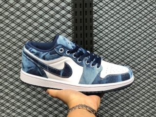 "Air Jordan 1 Low ""Washed Denim"" CZ8455-100 Free Shipping"