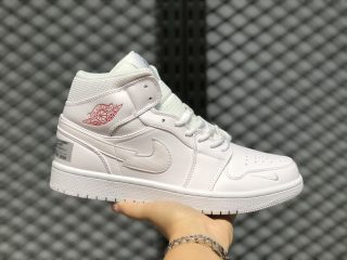 "Air Jordan 1 Mid ""Euro Tour"" London White/Red-Silver CW7589-100"