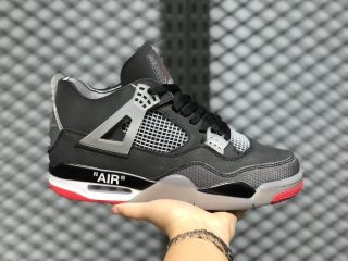 Air Jordan 4 Bred Black/Cement Grey-Summit White-Fire Red 308497-060