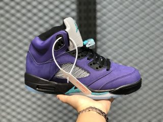 "Air Jordan 5 ""Alternate Grape"" 136027-500 Men's Basketball Shoes"