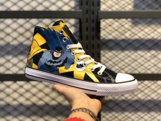 Converse x Batman Top Quality Canvas Shoes For Online Sale