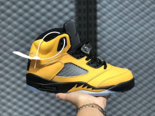 Hot Sale Air Jordan 5 SP Amarillo/College Navy-Amarillo CQ9541-704