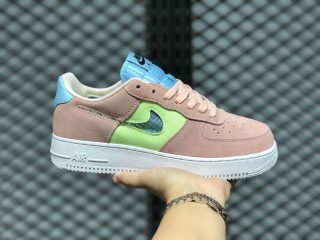 Nike Air Force 1 Low WMNS Washed Coral/Ghost Green-Oracle Aqua CJ1647-600