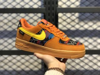 "Nike Air Force 1 ""N7"" Gold Suede/Dark Sulfur Discount CQ7308-700"