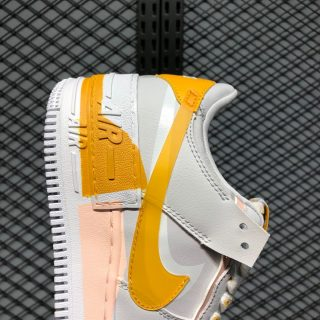 Nike Air Force 1 Shadow CQ9503-001 Vast Grey/Pollen Rise-Washed Coral-White Side