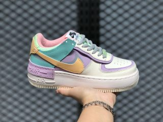 Nike Air Force 1 Shadow Pale Ivory/Celestial Gold-Tropical Twist CI0919-101