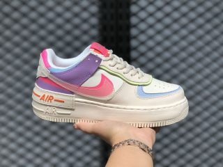 Nike Air Force 1 WMNS Shadow Beige Whiten Orange On Sale CU3012-164