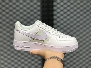 Nike Air Force 1 White/Barely Grape Women's Casual Sport Shoes CU3449-100