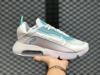 Nike Air Max 2090 White/Ice Blue Men's Jogging Shoes In Stock
