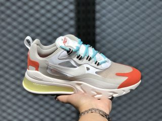 Nike Air Max 270 React AT6174-200 Light Beige Chalk/Team Orange
