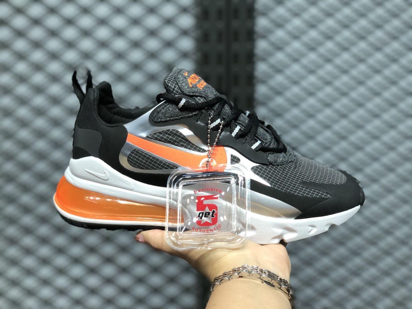 air max 270 react black and orange