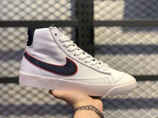 "Nike Blazer Mid '77 ""Vintage City Pride"" White/Navy Blue-Red CD9318-100"