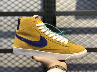 Nike Blazer Mid Retro OG Swoosh Yellow/Purple Suede Shoes HZ8238-700