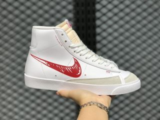 Nike Blazer Mid Shoes 77 Sketch White/Red-Sail For Sale CW7580-100