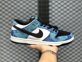 Nike Dunk SB Low Shoes Cloud White/Blue-Black On Sale BQ6817-900