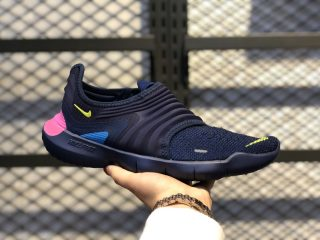 Nike Free RN Flyknit 3.0 Midnight Navy/Volt Shoes For Sale AQ5707-400