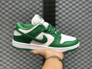 Nike SB Dunk Low White/Pine Green Skateboarding Shoes CU1727-102