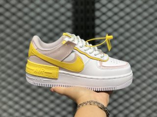 Nike WMNS Air Force 1 Shadow White/Speed Yellow-Barely Rose CJ1641-102