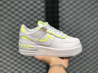 Nike Wmns Air Force 1 Shadow Cloud White/Fluorescent Yellow CI0919-104
