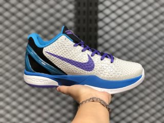 Nike Zoom Kobe 6 White/Blue-Purple Men's Sneakers Hot Sale CW2190-102