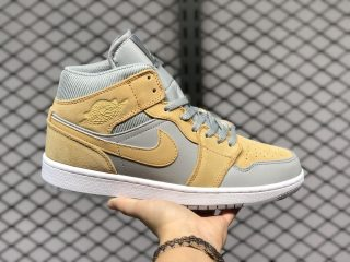 "2020 Air Jordan 1 Mid ""Bone Grey"" Hot Sale DA4666-001"