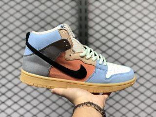 "2020 Latest Nike SB Dunk High ""Spectrum"" CN8345-001"
