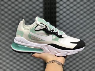 2020 Nike Air Max 270 React White/Ice Blue-Black CJ0619-012