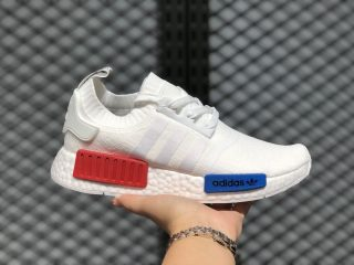 Adidas Boost NMD R1 Vintage White/Red-Blue For Sale S79482