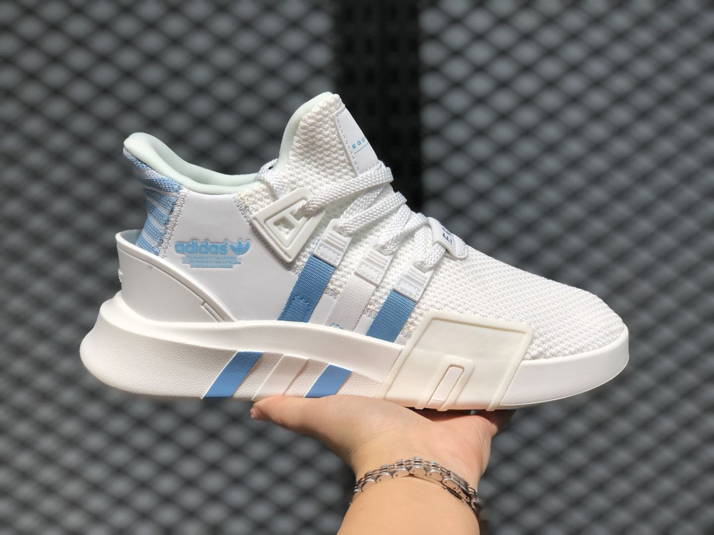Adidas EQT BASK ADV Cloud White/Blue Running Shoes On Sale FV4536