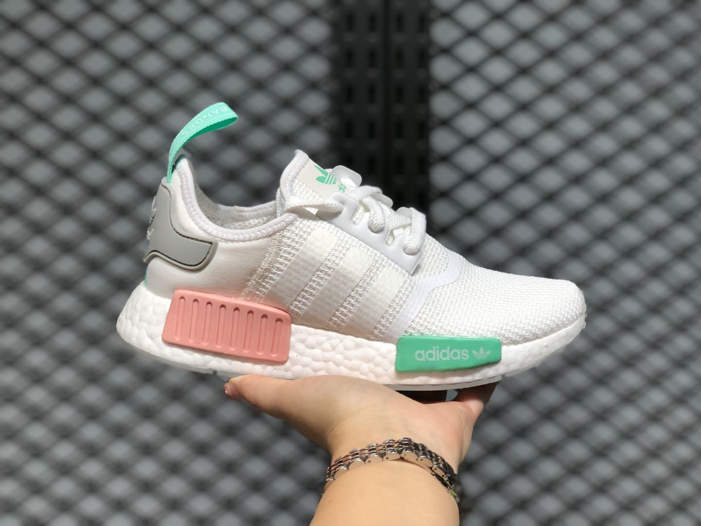 The Latest Adidas NMD R1 Cloud White/Grey Two-Clear Mint ...
