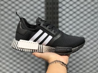 Adidas NMD R1 Glitch Core Black/Cloud White-Core Black FV3649