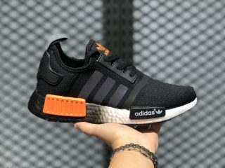 Adidas NMD R1 Glitch Core Black/Solar Orange-Cloud White FW0185