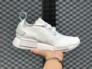 Adidas NMD R1 GS Primeknit Running Shoes White/Blue Tint CQ2040