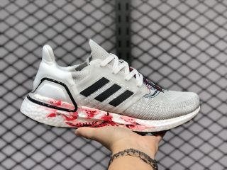 Adidas Ultra Boost 20 FW4314 Crystal White/Core Black-Solar Red