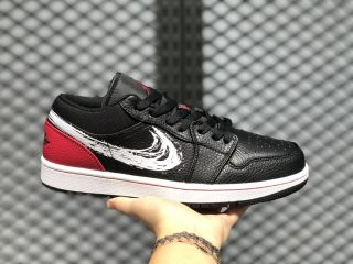 "Air Jordan 1 Low ""Brushstroke Swoosh"" For Online Sale DA4659-001"