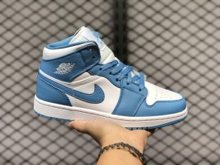 Air Jordan 1 Mid White/University Blue 2020 Latest 554724-106