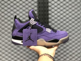 Air Jordan 4 Purple/Grey-Black Men's Training Shoes New Sale AJ4-766302
