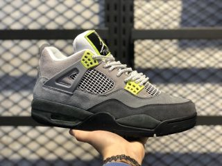 "Air Jordan 4 Retro SE ""Neon"" Cool Grey/Volt-Wolf Grey-Anthracite"